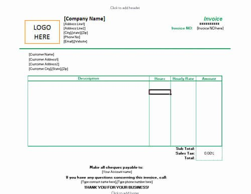Hourly Invoice Template Excel Beautiful 10 Free Freelance Invoice Templates [word Excel]