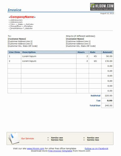 Hourly Invoice Template Excel Beautiful Freelance Hourly Invoice Template 10 Free Freelance