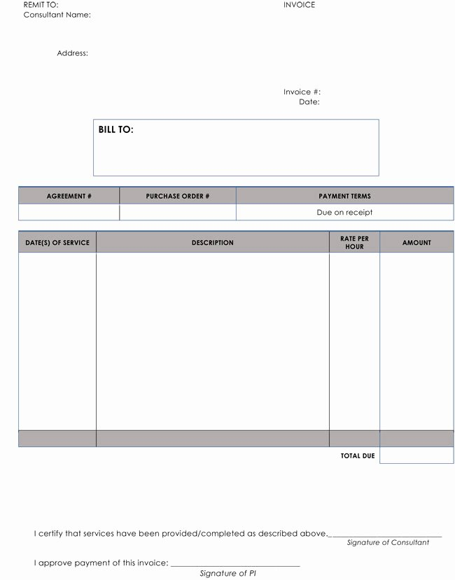 Hourly Invoice Template Excel Best Of 15 Hourly Service Invoice Templates In Excel Word and Pdf