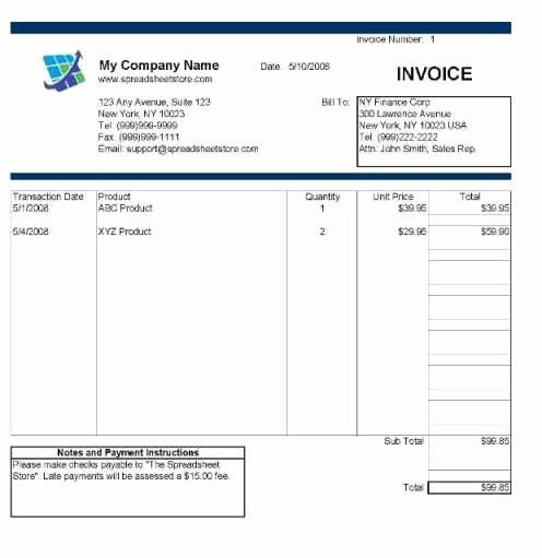 Hourly Invoice Template Excel Elegant Hourly Invoice Template Excel