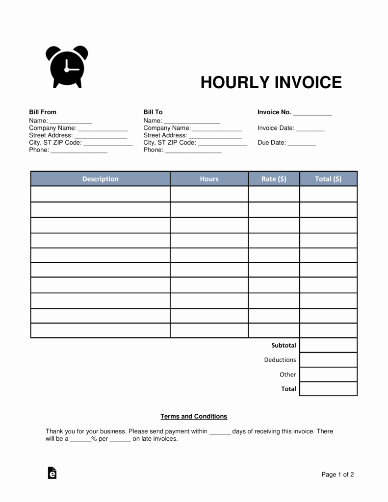 Hourly Invoice Template Excel Fresh Hourly Invoice Invoice Design Inspiration