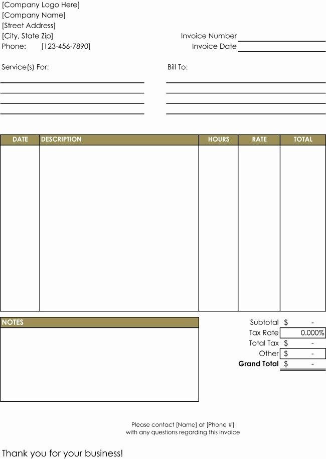 Hourly Invoice Template Excel Lovely Hourly Invoice Template Excel 50 Elegant Electrician