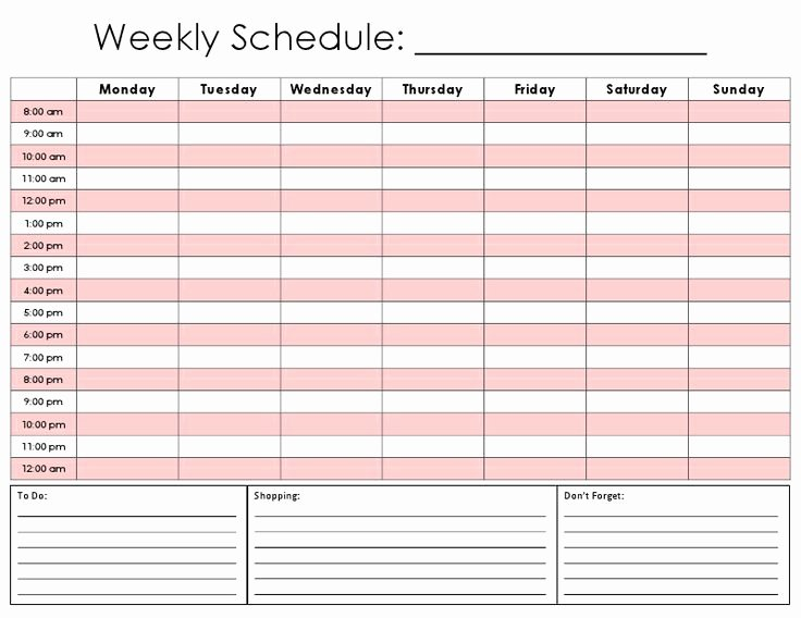 Hourly Work Schedule Template Beautiful 17 Best Images About Schedule Ideas On Pinterest