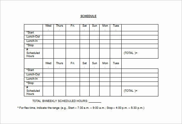 Hourly Work Schedule Template Inspirational Employee Lunch Schedule Template Templates Resume