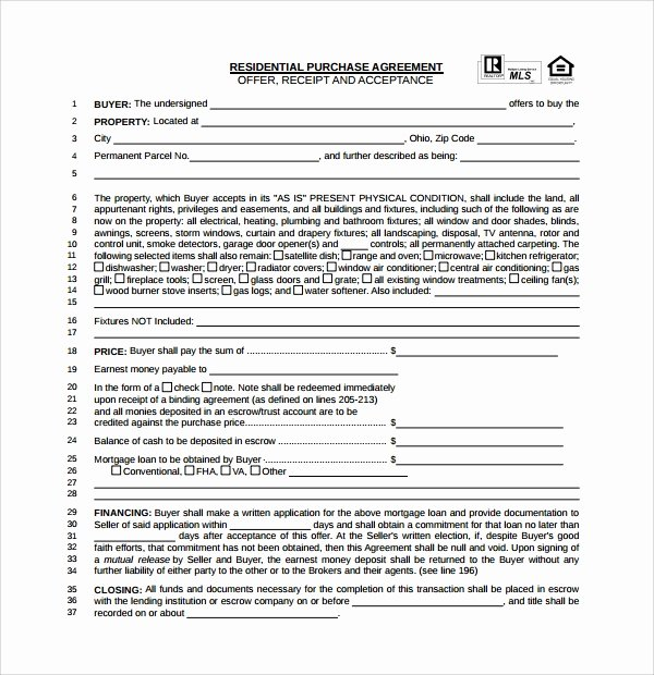 House Buying Contract Template Elegant 14 Sample Real Estate Purchase Agreement Templates