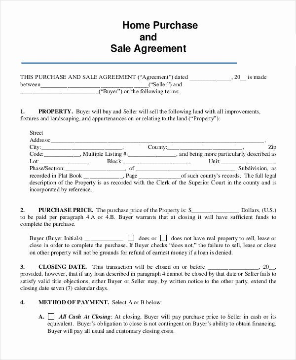 House Buying Contract Template Fresh 8 Home Sales Contracts Samples & Templates In Pdf Google