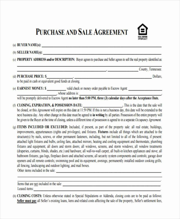 House Buying Contract Template Lovely 10 House Sales Contract Samples & Templates In Pdf