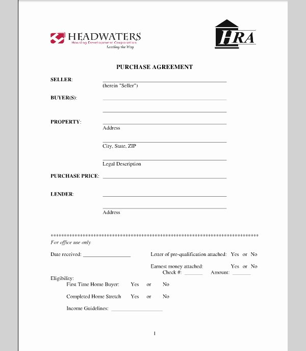 House Buying Contract Template Luxury for Sale by Owner Purchase Agreement
