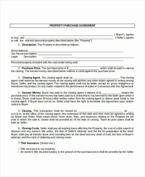House Buying Contract Template New 13 Purchase Contract Templates Word Pdf Google Docs