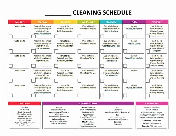 House Cleaning Checklist Template Beautiful Printable Cleaning Schedule & Master House by Gracebyfaith
