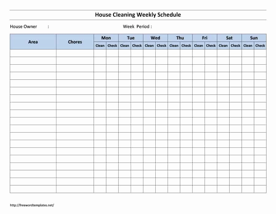House Cleaning Checklist Template Elegant 40 Printable House Cleaning Checklist Templates Template Lab