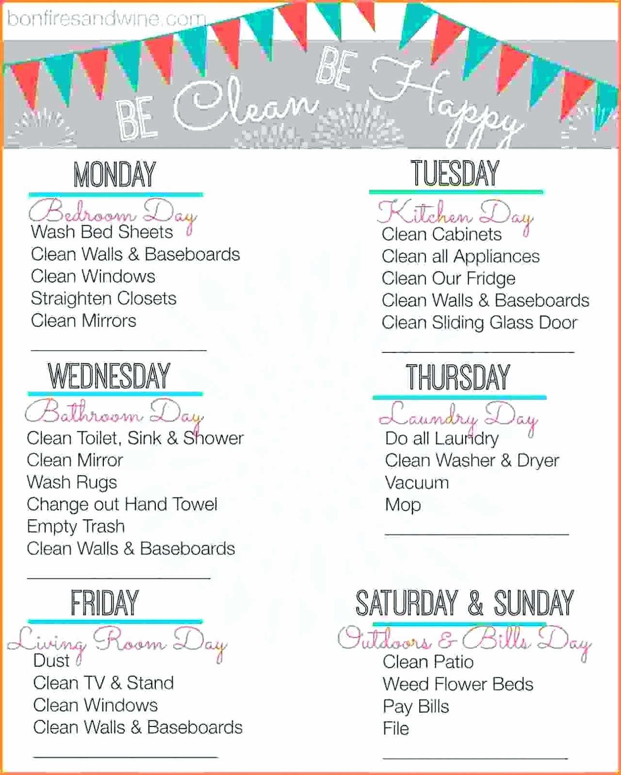 House Cleaning Checklist Template Elegant House Cleaning Plan Escortsea