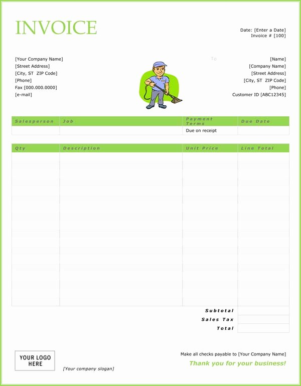 House Cleaning Invoice Template Elegant Templates for Carpet Cleaning Quotes Quotesgram