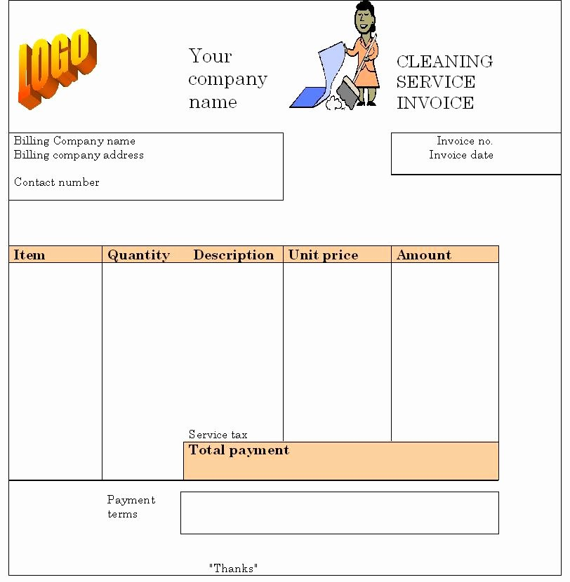 House Cleaning Invoice Template New Cleaning Service Invoice Template Invoice Templates