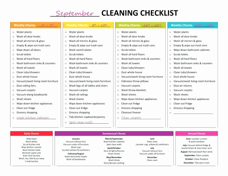 House Cleaning Schedule Template Beautiful Housekeeping Checklist App for Hospital Nursing Home
