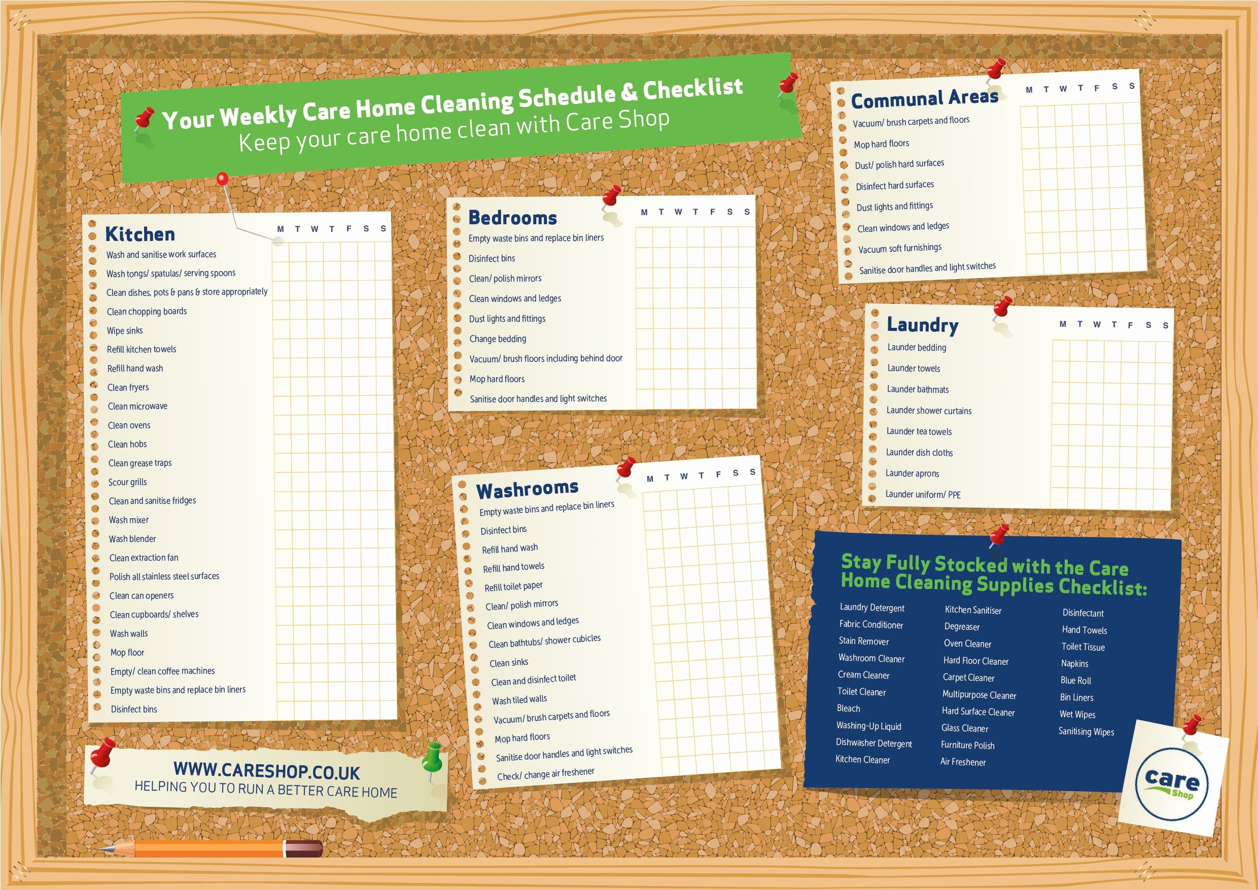 House Cleaning Schedule Template Fresh Free Download Your Care Home Cleaning Schedule