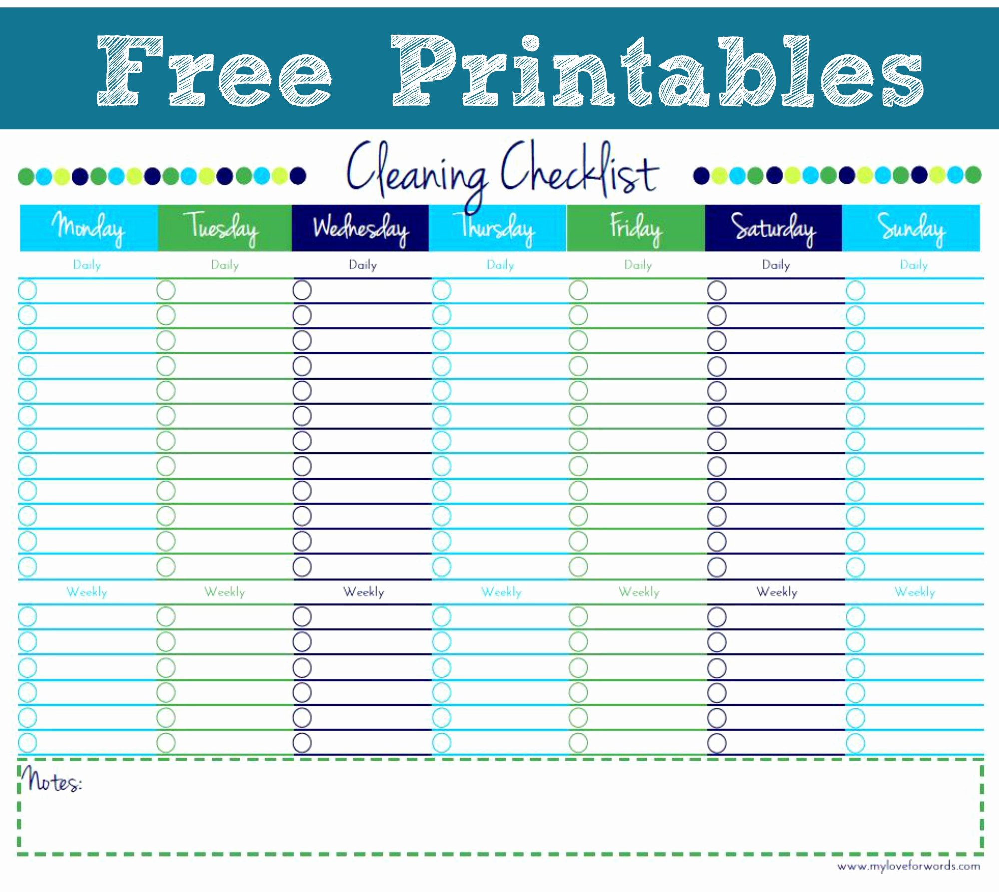 House Cleaning Template Free Awesome Free Printable Personal House Cleaning Checklist Template