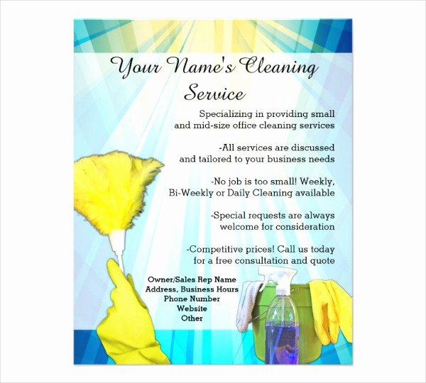 House Cleaning Template Free Fresh the Gallery for House Cleaning Services Flyer Templates