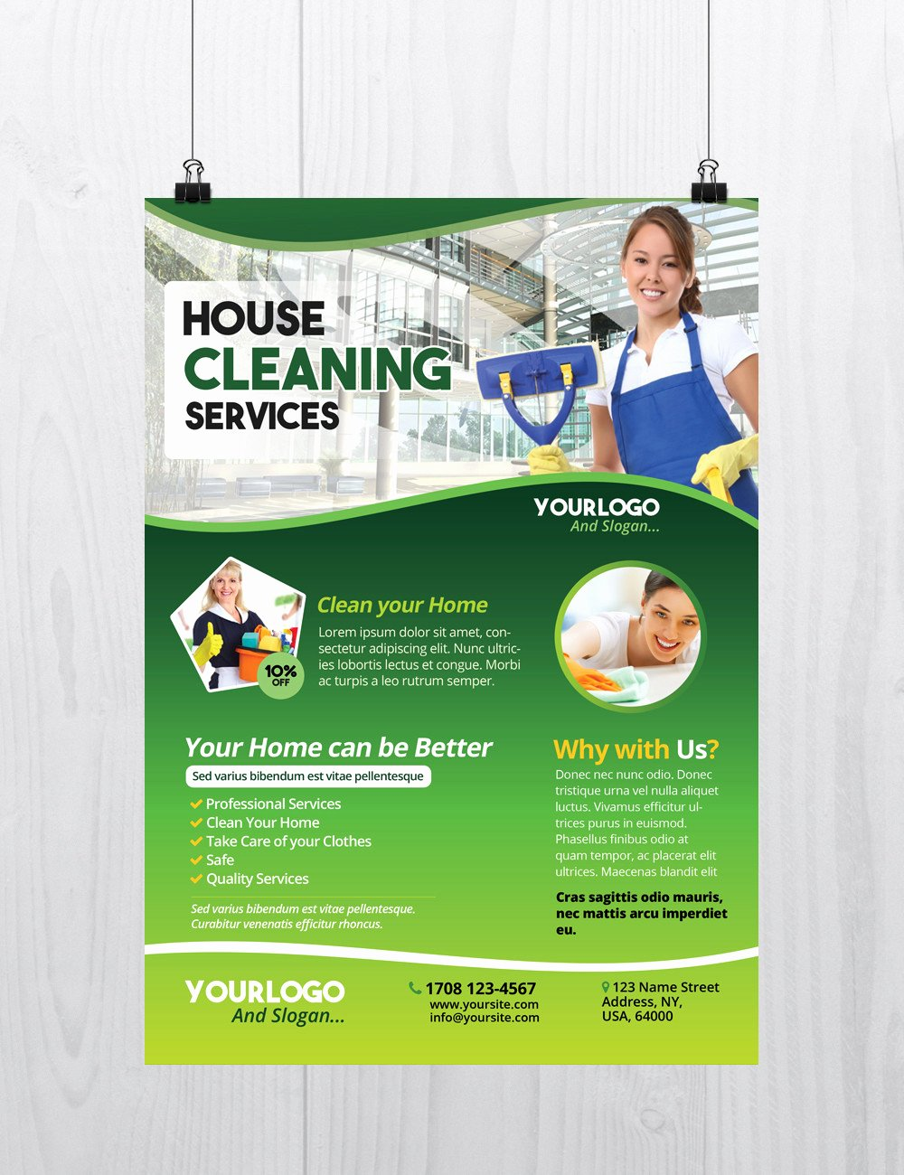 House Cleaning Template Free Lovely Cleaning Services Download Free Psd Flyer Template