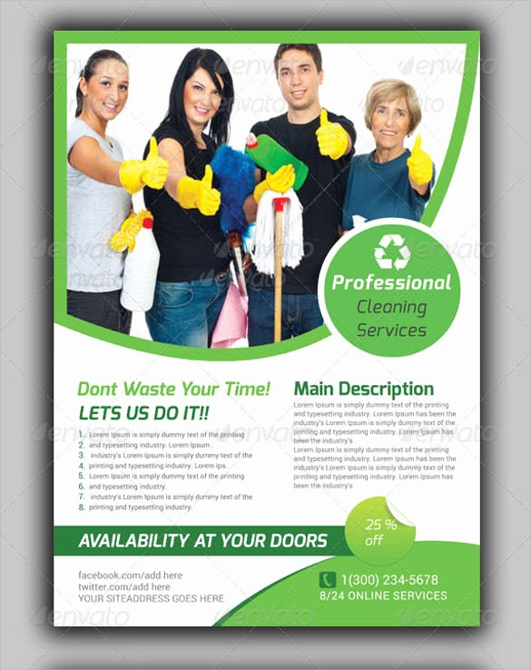 House Cleaning Template Free New House Cleaning Services Flyer Templates Yourweek