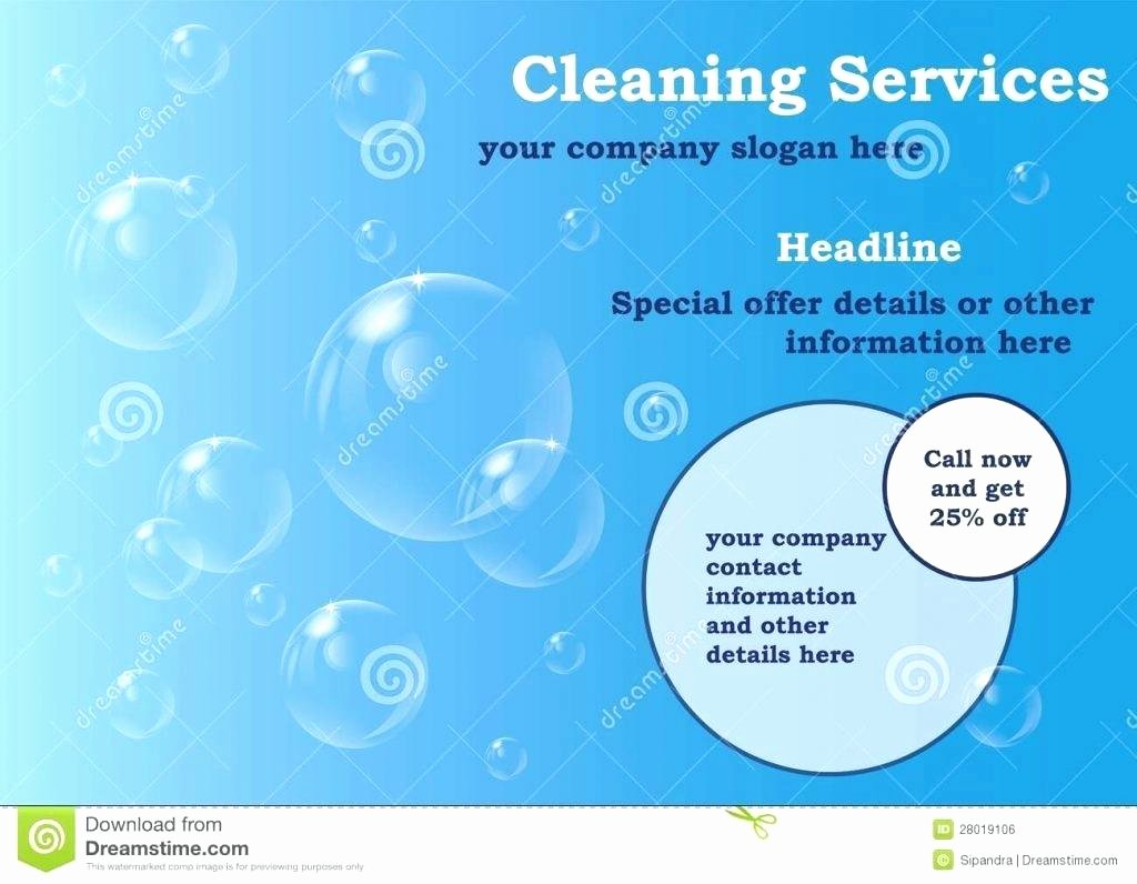 House Cleaning Template Free New Template It Services Brochure Template