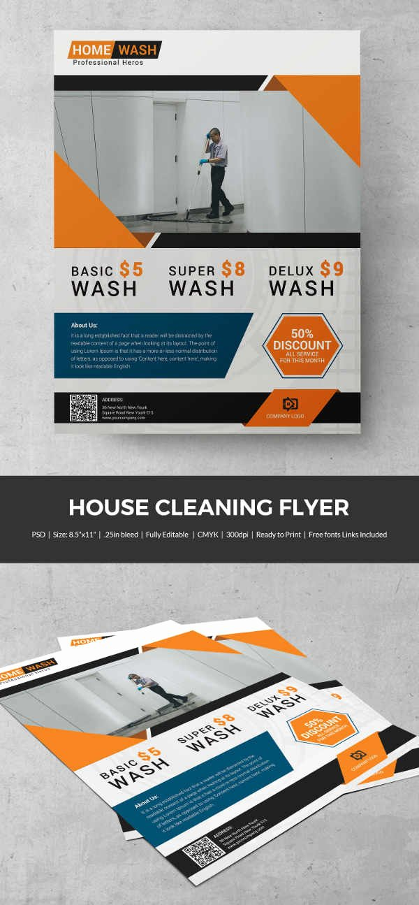 House Cleaning Template Free Unique House Cleaning Flyer Template 23 Psd format Download