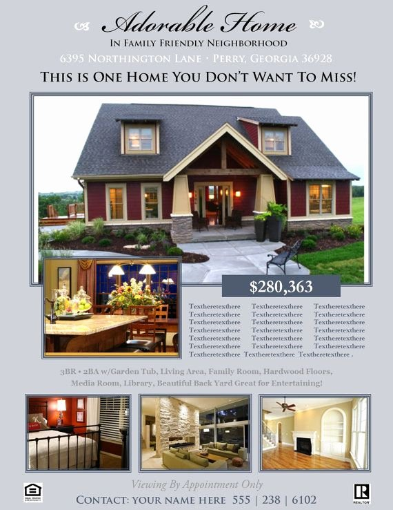 House for Sale Template Awesome Real Estate Flyer Template Microsoft Publisher Template