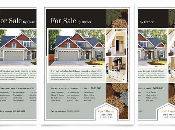 House for Sale Template Beautiful 38 Real Estate Flyer Templates Psd Ai Word Indesign