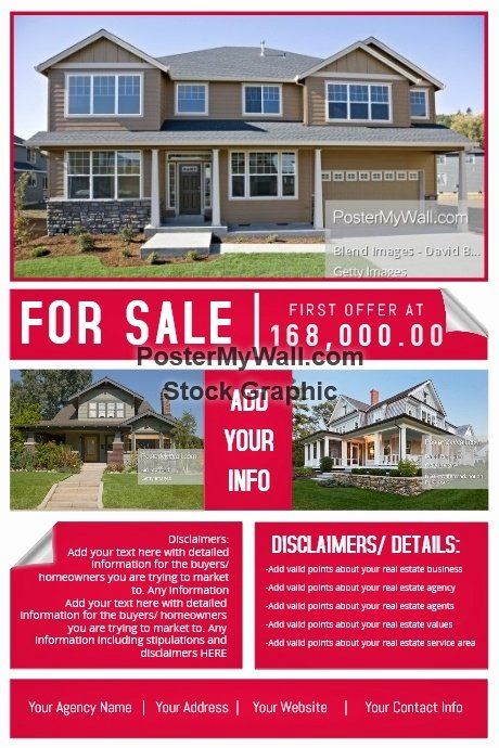 House for Sale Template Beautiful Real Estate Agency House Sale Retail Ad Marketing Auction