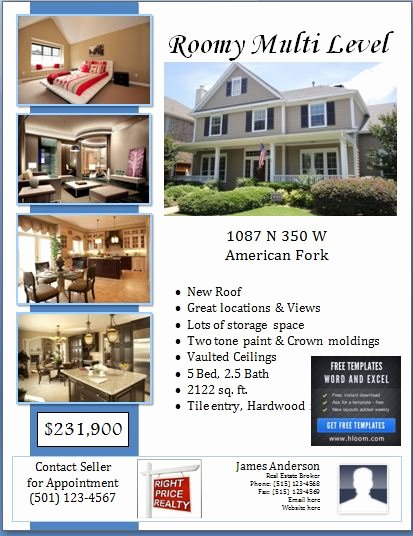 House for Sale Template Beautiful Sample Real Estate Poster Template