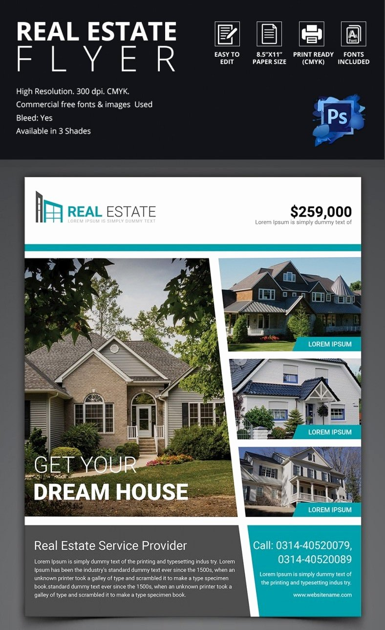 House for Sale Template Inspirational 44 Psd Real Estate Marketing Flyer Templates
