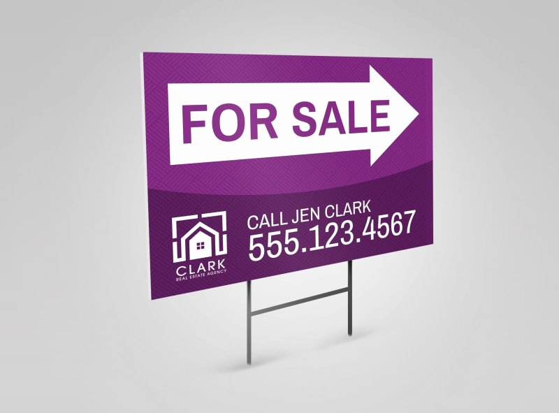 House for Sale Template Inspirational Real Estate for Sale Yard Sign Template