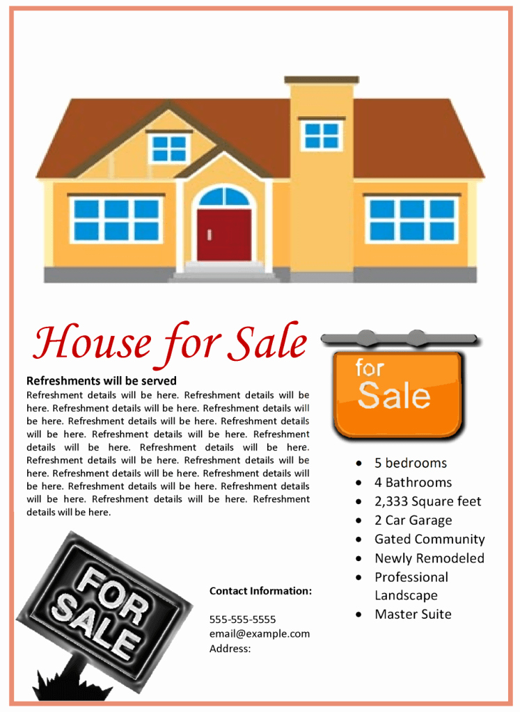 House for Sale Template Lovely House for Sale Flyer Template