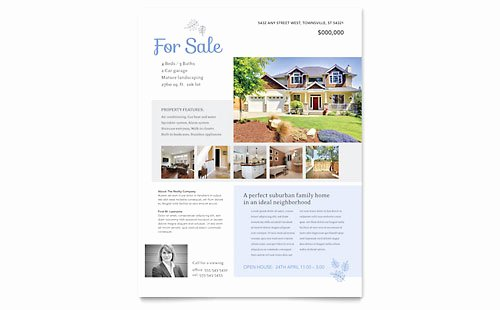 House for Sale Template New Real Estate Agent Flyer Templates