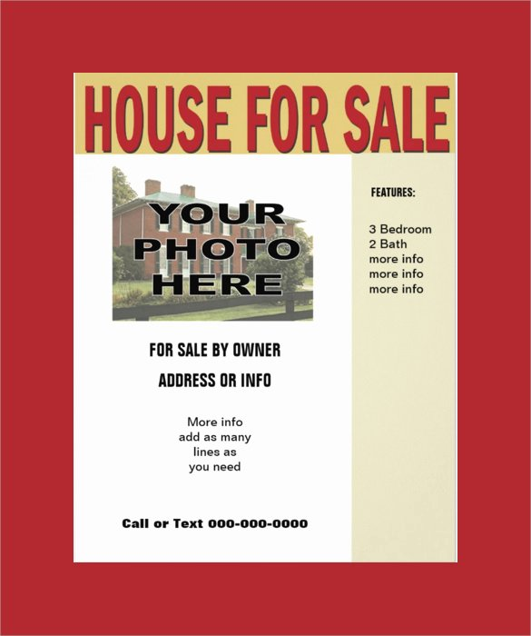 House for Sale Template Unique 13 House for Sale Flyer Templates