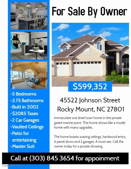 House for Sale Template Unique Real Estate Flyer Template