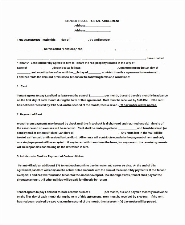 House Lease Agreement Template Awesome 18 House Rental Agreement Templates Doc Pdf