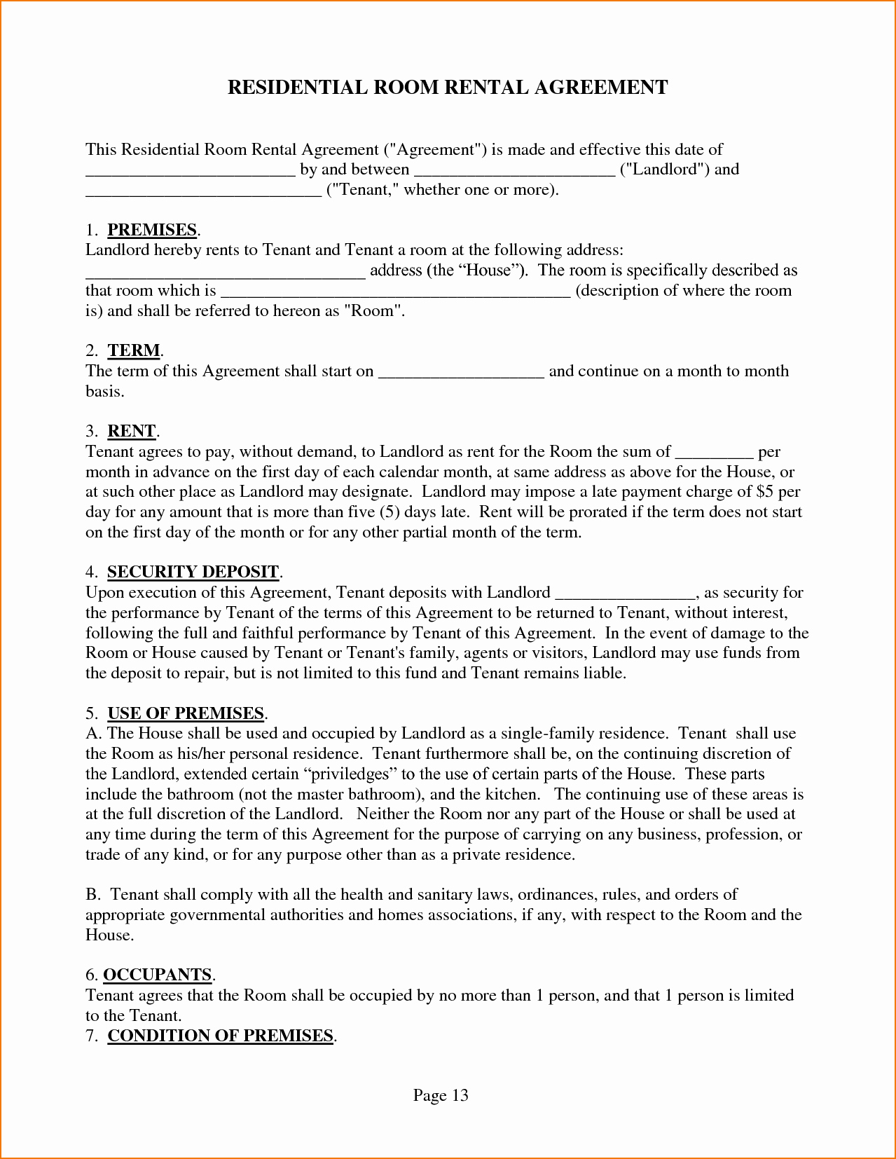 House Lease Agreement Template Beautiful 3 House Rental Agreement