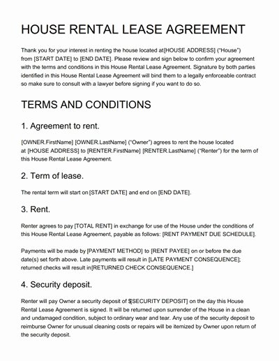 House Lease Agreement Template Beautiful House Rental Agreement Template Free Download Edit Print