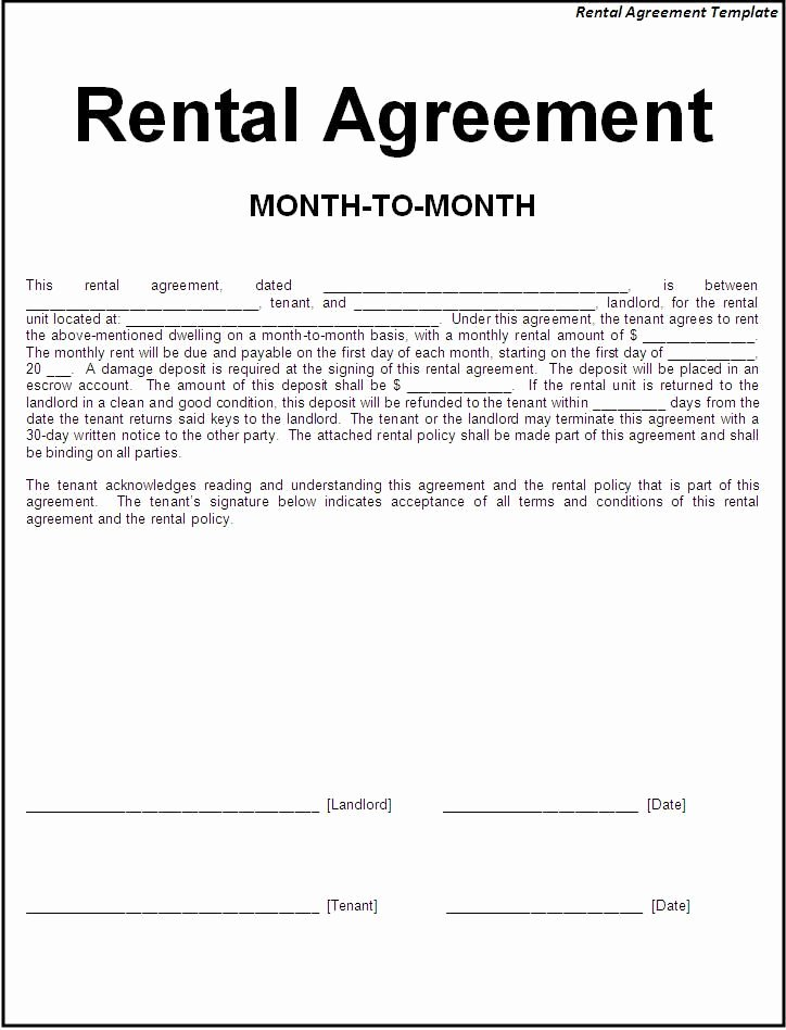 House Lease Agreement Template Beautiful Printable Sample Simple Room Rental Agreement form