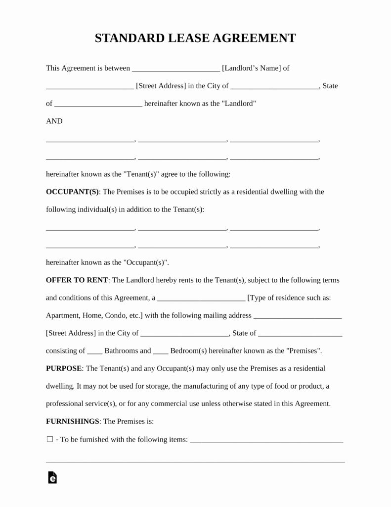 House Lease Agreement Template Best Of Free Standard Residential Lease Agreement Template Pdf