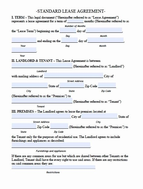House Lease Agreement Template Best Of Printable Sample Residential Lease Agreement Template form