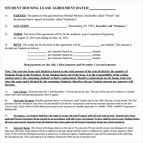 House Lease Agreement Template Lovely 10 Sample House Lease Agreements