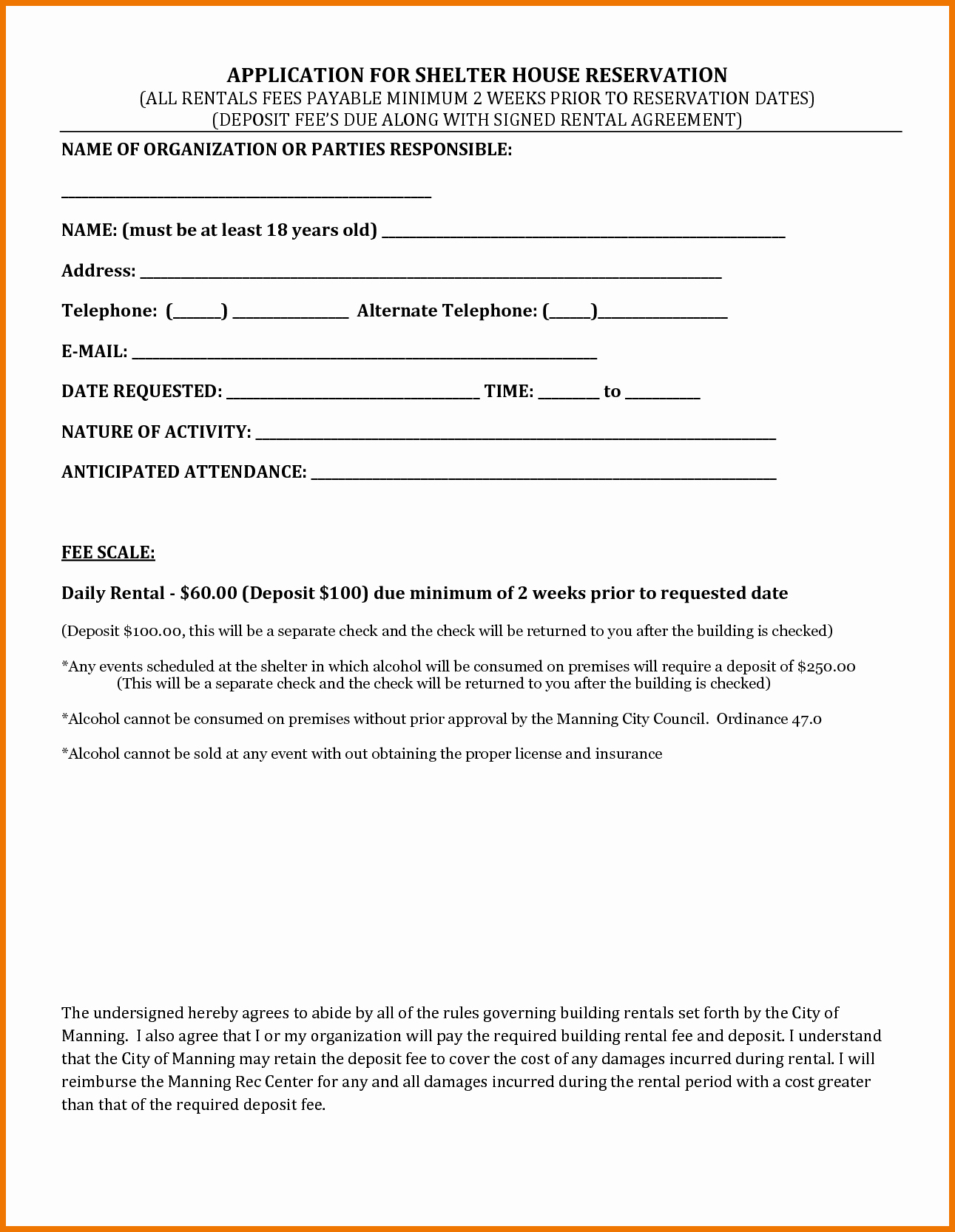 House Lease Agreement Template Lovely 4 Rental House Agreement Itinerary Template Sample