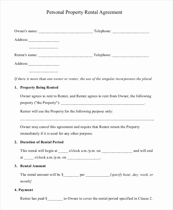 House Lease Agreement Template Luxury 16 Property Rental Agreement Templates – Free Sample