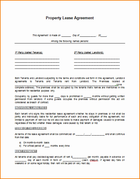 House Lease Agreement Template Luxury 5 Rental Lease Agreement Template Word