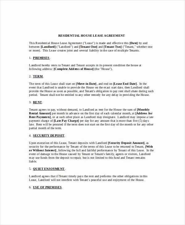 House Lease Agreement Template New House Lease Agreement 14 Free Download Documents In Pdf