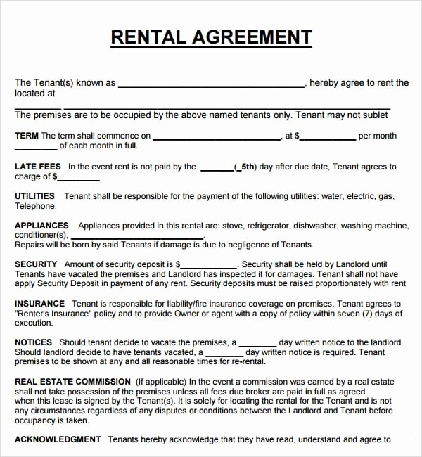 House Lease Agreement Template Unique 20 Rental Agreement Templates Word Excel Pdf formats