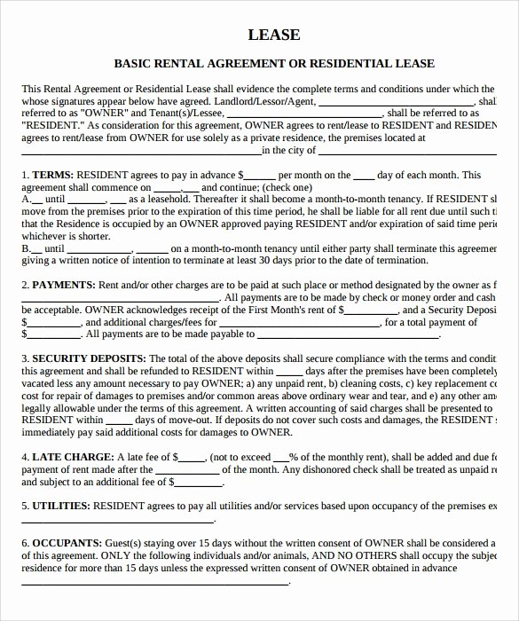 House Lease Agreement Template Unique 9 Property Lease Agreement Templates to Download for Free