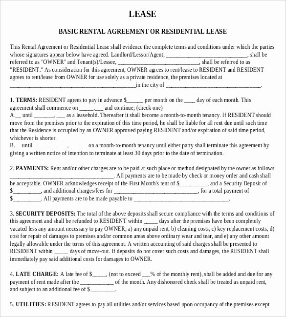 House Lease Agreement Template Unique Rental Agreement Templates – 15 Free Word Pdf Documents